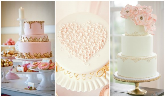 pink-gold-cakes