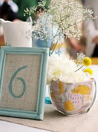 Yellow and Blue Centerpiece