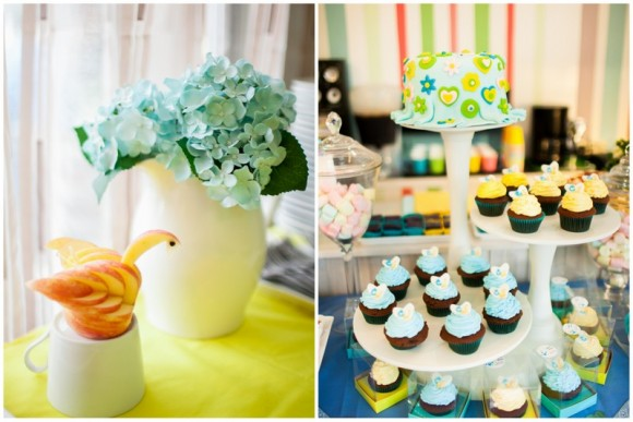 Yellow and Blue Cupcake