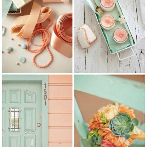 Mint and Peach Things