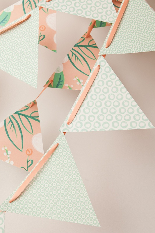 Peach and Mint Buntings