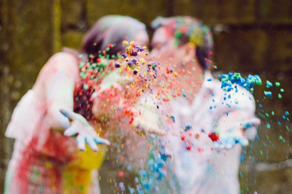 Colored Powder Engagement Shoot