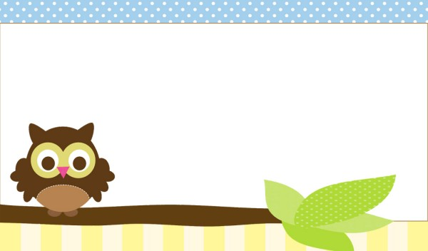 Owl Party Printables Blank Labels