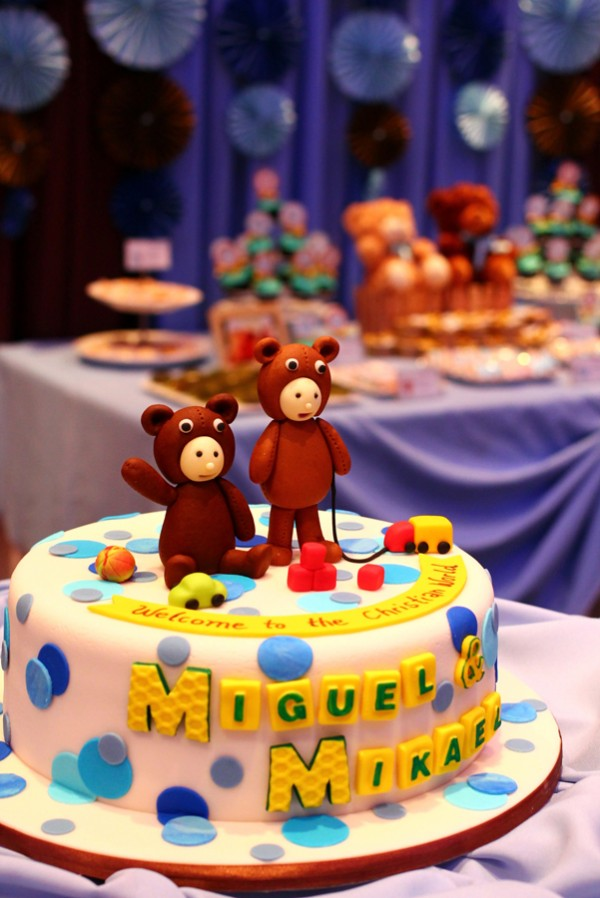 Blue and Brown Teddy Bear Themed Party - 04