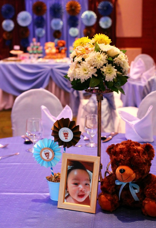 Blue and Brown Teddy Bear Themed Party - 07