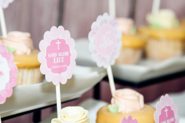 Lillies and Flowers Themed Christening - 01