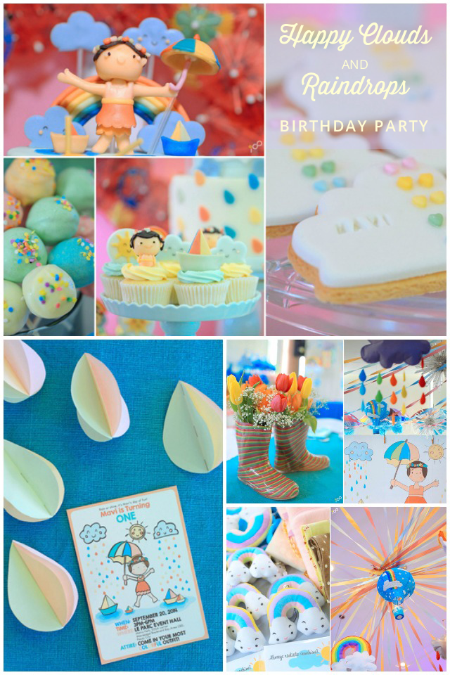 Happy Cloudes and Rain Party Ideas