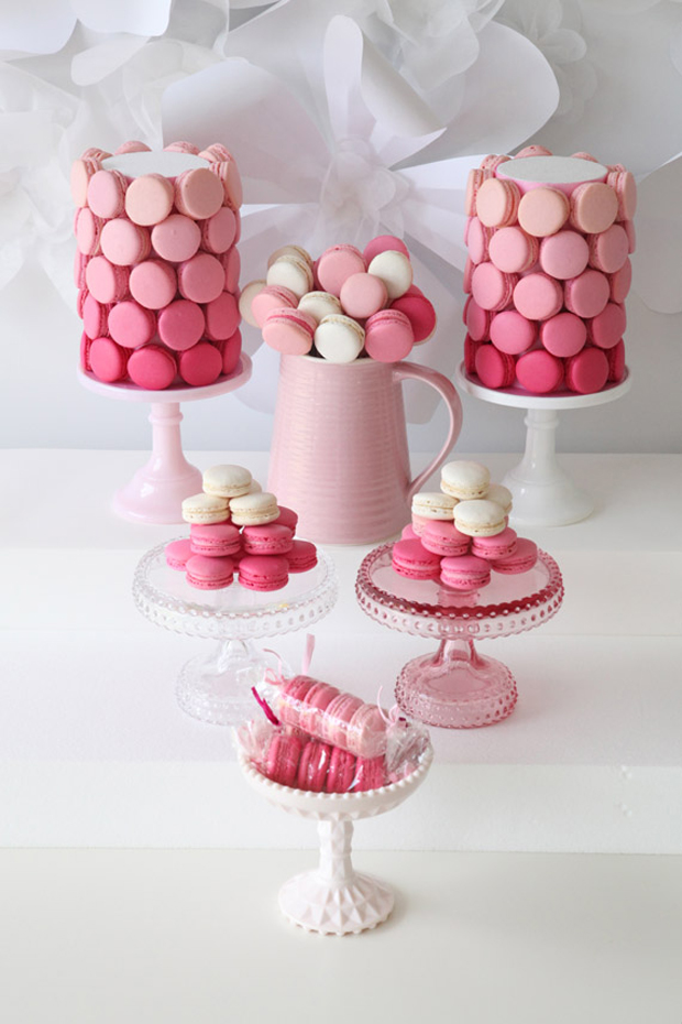 ombre macaroons