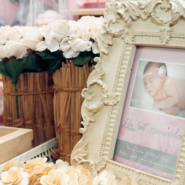 Lillies and Flowers Themed Christening - 19