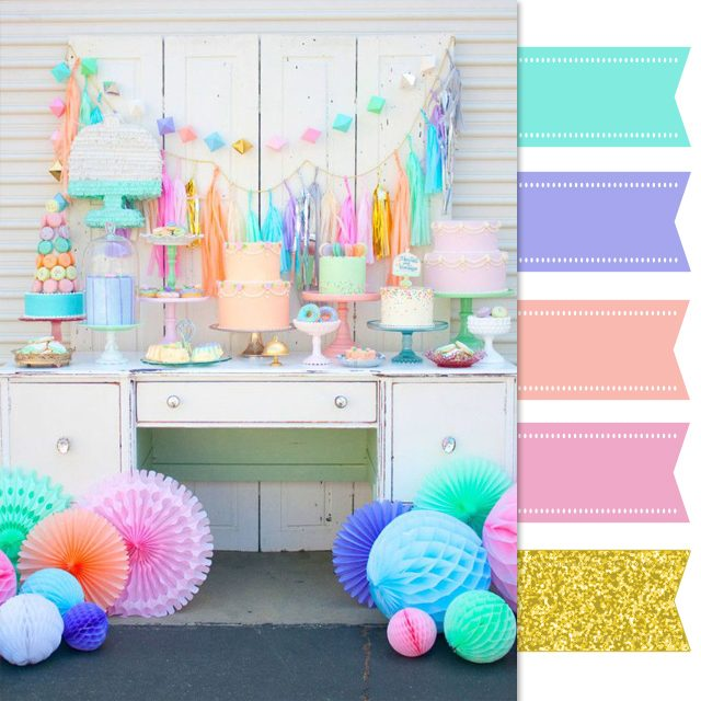 colorful dessert table inspiration