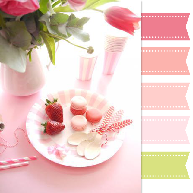 Pink and Green Color Scheme